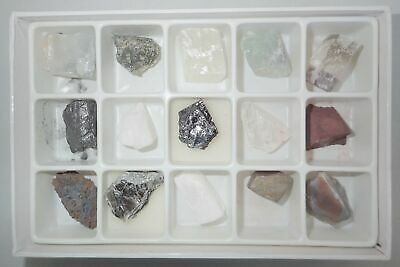15 Mineral Collection Paper Box Set C MSS15C Education Natural Stone Specimen