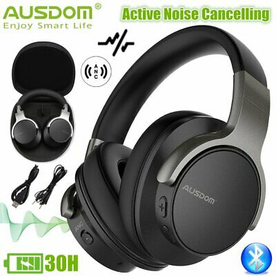 Ausdom ANC8 Bluetooth Wireless Headphones Noise Cancelling Bass Stereo Headsets