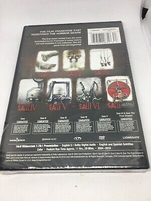 NEW Saw: The Complete Movie Collection (DVD, 2014, 4-Disc Set)