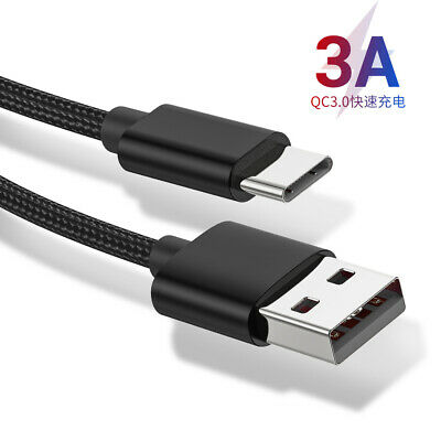 USB Type C Cable Quick Charge QC3.0 Fast Charging Mobile Phone Data Cable 1M