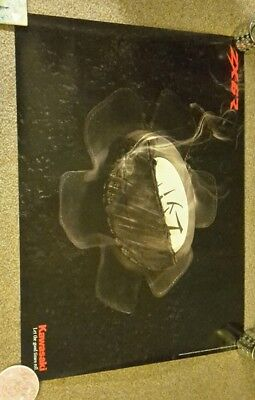 kawasaki ZX 6R Smoking knee slider poster.