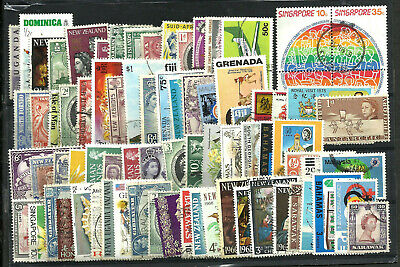 British Colonies Lot, 80 Different Stamps, Vf