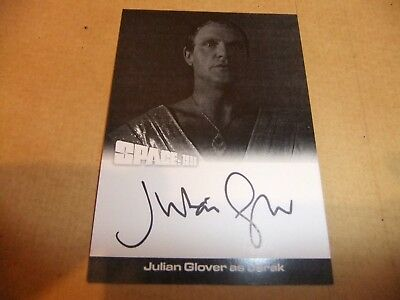 GERRY ANDERSON SPACE 1999 series 2 JULIAN GLOVER JG2 PROOF AUTOGRAPH CARD