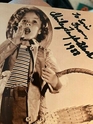 Shirley Temple Child Star  Movie Actor Autograph Signed Photo Postcard