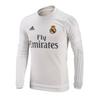 various colors 165bd b301d 18/19 REAL MADRID Home Long Sleeve Jersey White - $35.99 ...