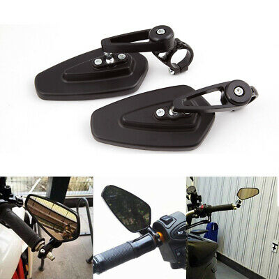 """Motorbike Motorcycle 7/8"""" Handle Bar End Rearview Side Mirrors Scooter Universal"""