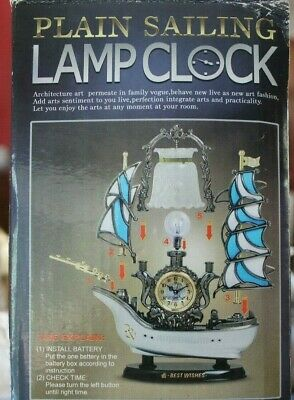 Ship Lamp Clock by Plain Saling - New in Box