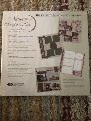 Creative Memories Natural Refill Scrapbook Pages RCM-12NT 12x12 Pack of 15 NEW