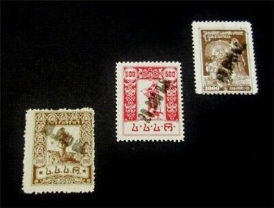nystamps Russia Georgia Stamp # 36a.38a.40a Mint OG H $55