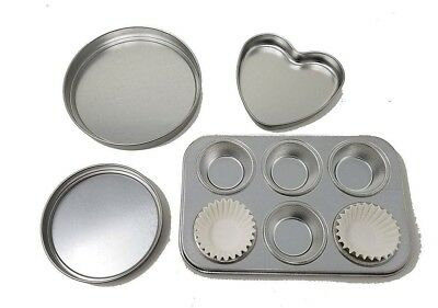 Baking Pan Set of 4 for EASY BAKE  Oven - Brand New Replacement heart pan.