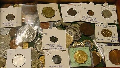 Interesting lot of coins and medals including Ancient Roman coins.