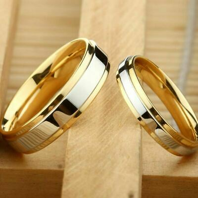 316L stainless steel wedding ring gold-plated engagement jewelry ring size 5-13