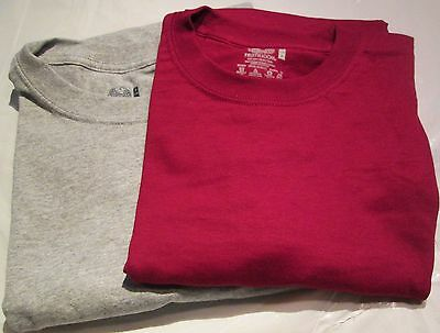 Fruit of Loom Tag less Classic Muscle T-Shirt Medium 4 Pc 2 Color 100 % Cotton
