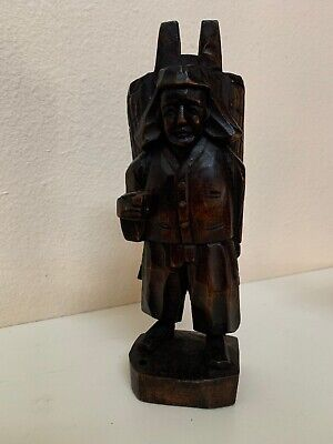 Vintage Chinese Old Wood Hand Carved STATUE Rare HTF ANTIQUE S5