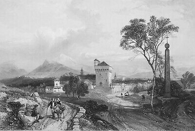 ITALY Benevento - 1858 SUPERB Antique Print Engraving