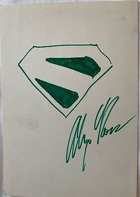 "Original ALEX ROSS Kingdom Come Superman ""S"" Shield Comic Art Sketch!"
