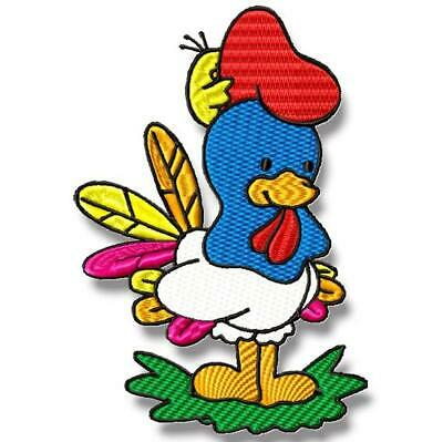ROOSTER BLUE 10 MACHINE EMBROIDERY DESIGNS CD or USB