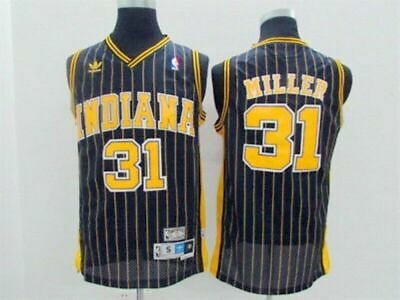 pretty nice c2851 3be22 THROWBACK BASKETBALL JERSEY REGGIE MILLER 31 Indiana Pacers ...