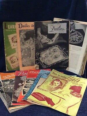"""Lot of Vintage """"How to Booklets"""", Crochet, Knit, Tatted, Doilies, Hats, V"""
