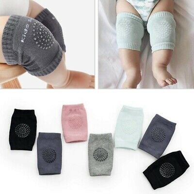 7 Pairs Baby Breathable Crawling Anti-Slip Knee Unisex of High Elastic Spon P9E6