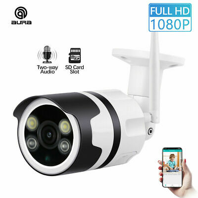 New Wireless FHD 1080P WIFI IP Camera Outdoor Security IR Night Vision WebCams