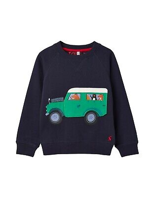 JOULES Tom Joule Sweatshirt WINTER Jeep blau Gr. 92 - 116 NEU