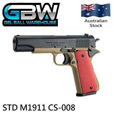 STD M1911 CS-008 Manual Magazine Fed Gel Ball Blaster Pistol Water Toy