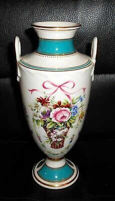 Minton Fine China Rose Basket Pattern Vase