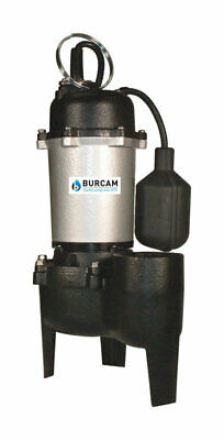 Burcam  1/2 hp 60 gpm Cast Iron  Submersible Sewage Ejector Pump