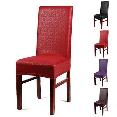 1X Leather Kitchen Bar Dining Hotel Restaurant Wedding Part Ornament Chair Cover