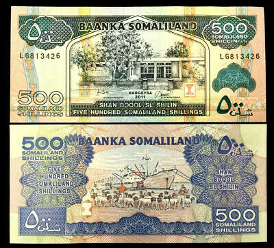SOMALILAND 500 SHILLING Year 2011 Banknote World Paper Money UNC Currency Bill