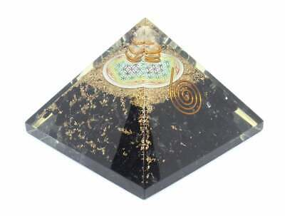 Large LG 70-75 MM Black Tourmaline Oregon Crystal Healing Pyramid FengShui