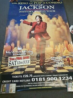 "40x60"" HUGE  Poster Michael Jackson History World Tour 1997 Wembley July 12th"