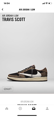 Nike X Travis Scott Jordan 1 Low Cactus Jack Ds