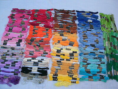 Vintage Embroidery Cotton  Floss----Lot 175-- Asst Colors & Brands--New/Used