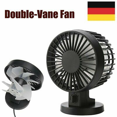 Mini Portable Double-vane Fan USB Ventilator Turmventilator Klimagerät Fan DE