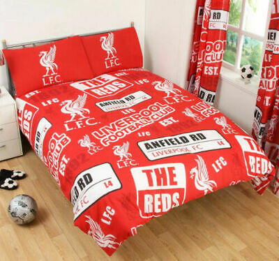 LIVERPOOL FC Football Duvet Cover Set Double Bed Kids Adults