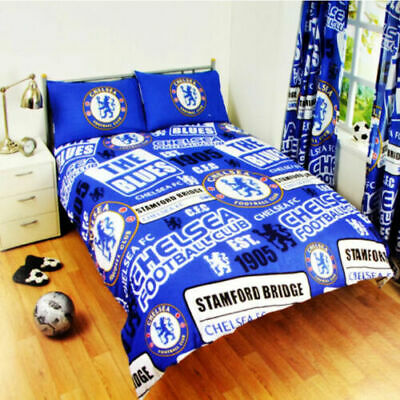 CHELSEA FC Football Duvet Cover Set DOUBLE Bed Kids Adults