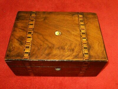 A Very Nice Stunning  Inlaid Wooden Antique  Box