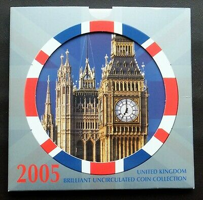 2005 UK Royal Mint Brilliant Uncirculated Coin Collection.