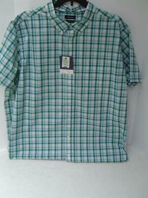 MENS SIZE 3XB CROFT /& BARROW BIG /& TALL WHITE PIQUE POLO SHIRT NEW #15502