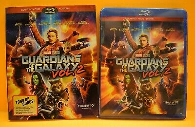 Guardians of the Galaxy Vol. 2 Blu Ray & DVD Movie New & Sealed