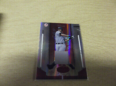 Game-Used Derek Jeter 2004 Leaf Certified #51 Mirror Red Jersey Relic #015/150