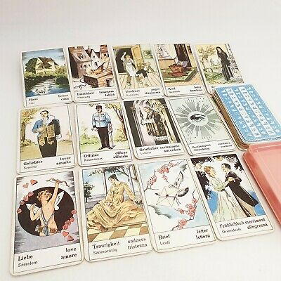 Vintage Tarot card deck telling fortune 34 CARDS 1970's Hungary