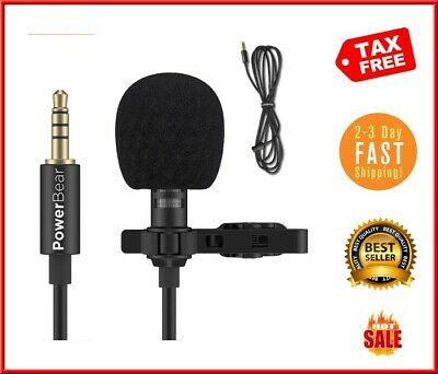 Omnidirectional Lapel Microphone with 3.5mm AUX PowerBear Lavalier Microphone