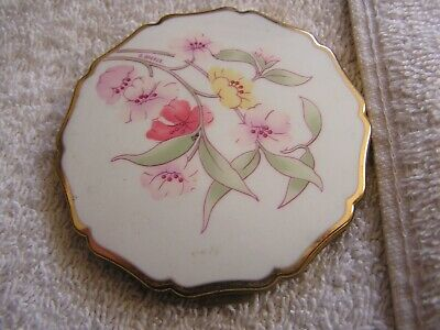 Vintage Stratton England Floral Compact