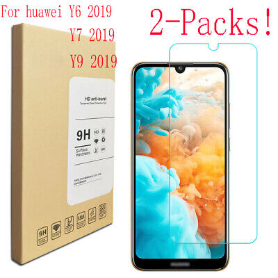2PCS For HUAWEI Y5 Y6 Y7 Pro Y9 2019 2018 Tempered Glass Screen Protector AU LY
