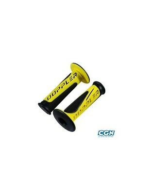 Revetement/poignee doppler grip radical noir/jaune (pr)