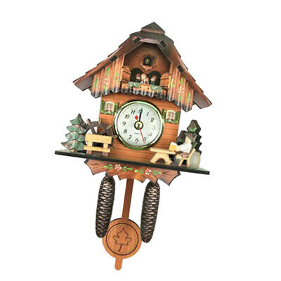 Antique Cuckoo Wall Clock  Wooden Clock Home Decor Excellent Gift F