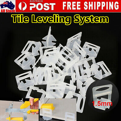 3000/4000x Tile Leveling System Clips Spacer Tiling Tool Floor Wall 1.5mm AU